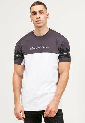 VEZ - T-shirt imprimé - asphalt/white