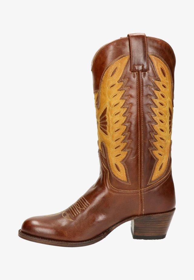 Cowboy-/Bikerlaarzen - cognac