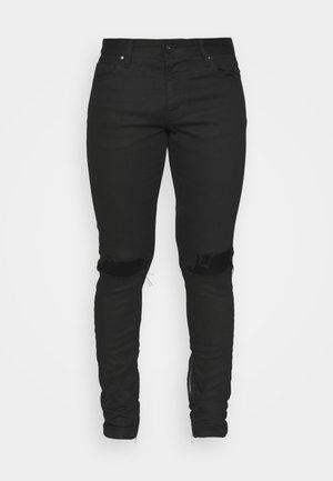 MITU DISTRESSED - Jeans slim fit - black