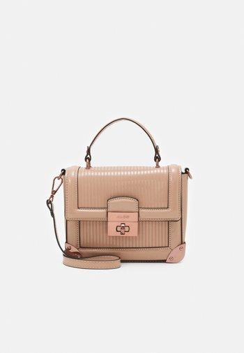 AGRELIDIA - Handbag - nude/plum