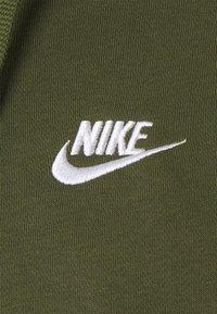 Nike Sportswear - CLUB HOODIE - Zip-up sweatshirt - rough green/white - 2