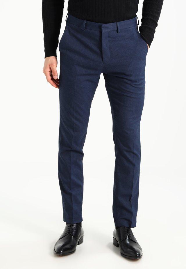 MATHCOLE SLIM FIT - Spodnie garniturowe - dark blue