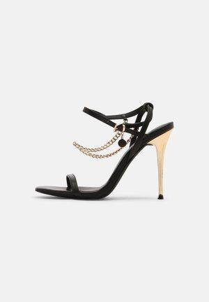 LEATHER - Sandaler med høye hæler - black