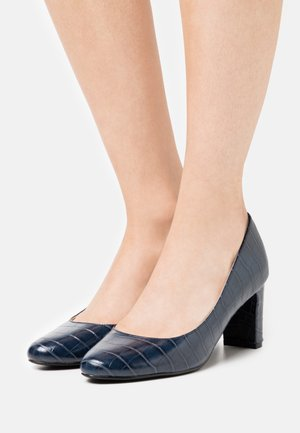 DENVER ALMOND TOE COURT - Klassiske pumps - navy