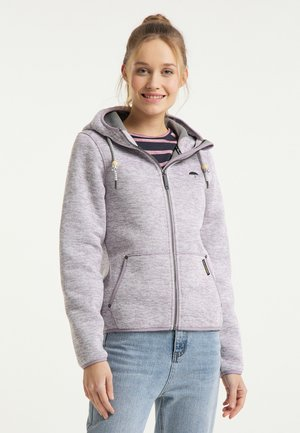 Fleece jacket - rauchlila melange