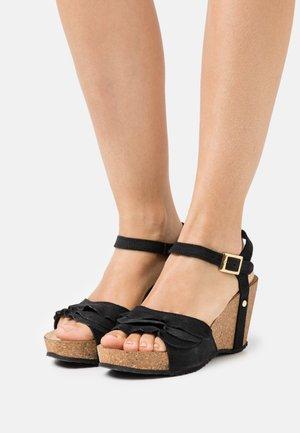 ELVIRA  - Platform sandals - black