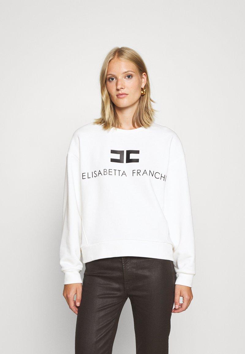 Elisabetta Franchi - Sweatshirt - avorio/nero