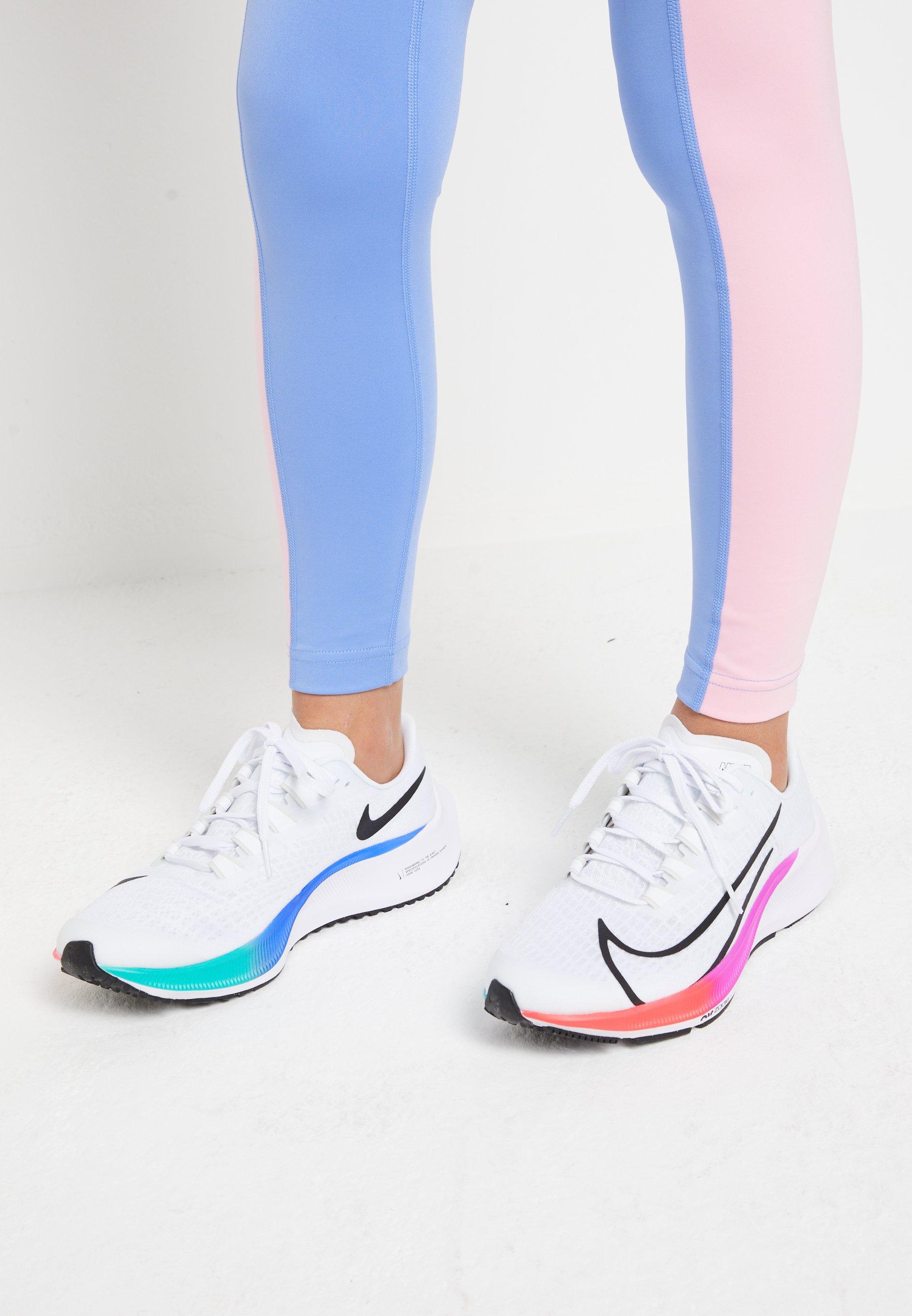 subterráneo Vicio águila  Nike Performance AIR ZOOM PEGASUS 37 UNISEX - Neutral running shoes -  white/jade aura/flash crimson/hyper violet/white - Zalando.co.uk