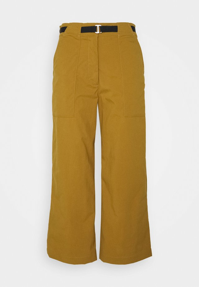 OUTRACK HIGH PANTS - Trousers - cumin