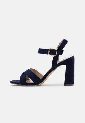 SELENA BLOCK  - High heeled sandals - navy