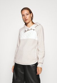 Abercrombie & Fitch - ASYMETRICAL SNAP - Sweat polaire - cream/cream - 0