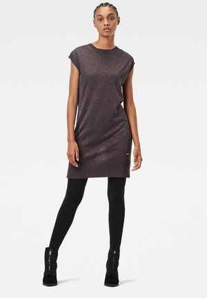 DEEP SCOOP - Day dress - vintage navy/copper