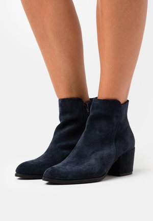 LEATHER  - Boots à talons - blue