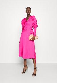 Cras - ALMACRAS WRAP DRESS - Day dress - shocking pink - 1