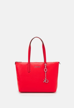 SHOPPER  WAVE SAFFIANO - Tote bag - red
