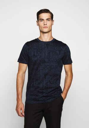 PANOS - Print T-shirt - dark blue