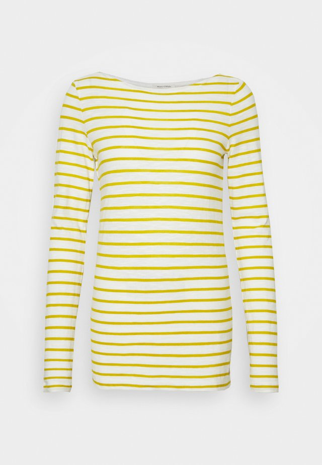LONG SLEEVE BOAT NECK - Maglietta a manica lunga - pure curry