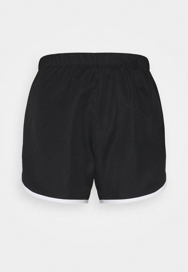 CONTRAST TRIM TRAINING SHORTS - Sports shorts - black/white