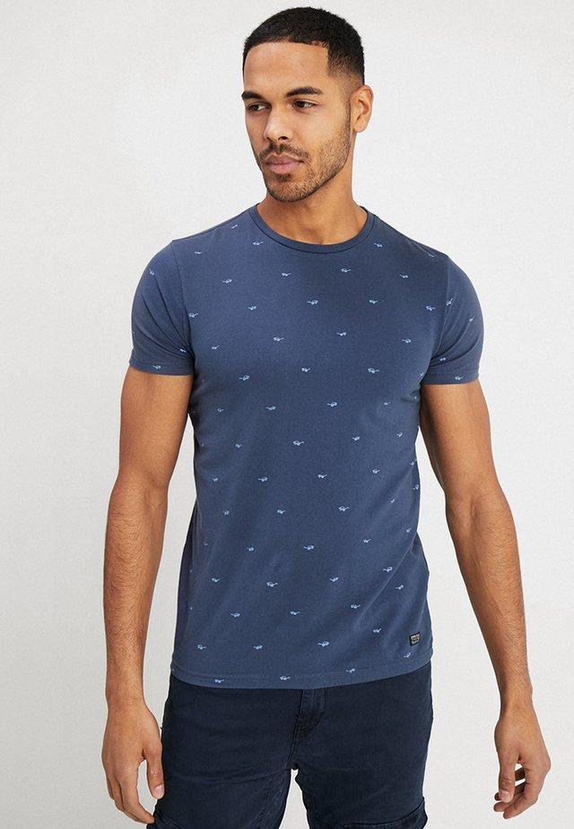 T-shirts med print - stone blue