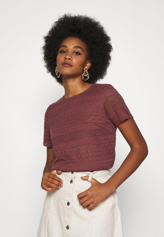 Print T-shirt - rose brown