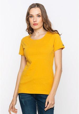 T-shirt - bas - mustard