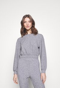 Miss Selfridge - BRUSHED ELASTIC - Sweatshirt - grey - 0