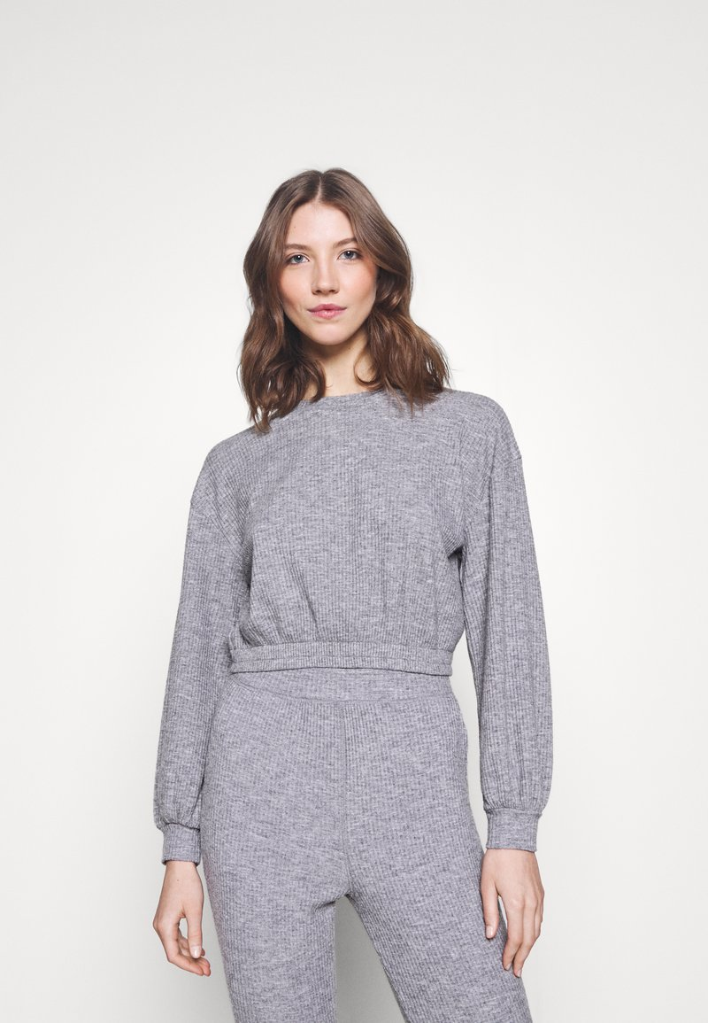 Miss Selfridge - BRUSHED ELASTIC - Sweatshirt - grey