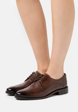 BETTY - Derbies - mid brown/indy yellow/rich tan/brown