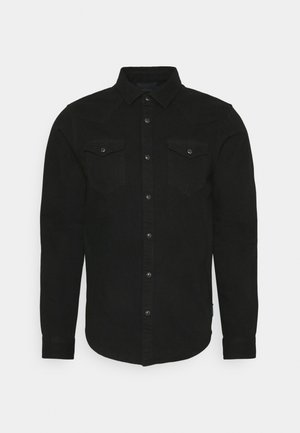 CLASSIC WESTERN IN SEASONAL WASHES - Shirt - black denim
