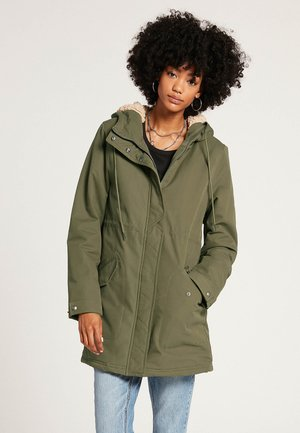 LESS IS MORE - Winter coat - army_green_combo