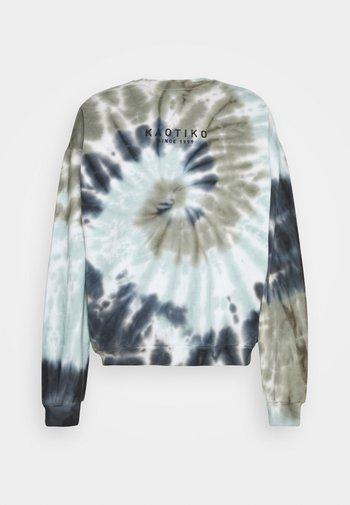 CREW TIE DYE ESPIRAL  - Sweatshirt - blue/white