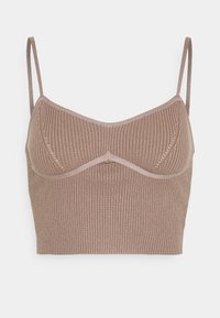 Missguided - STRAPPY BUST DETAIL CROP TOP - Top - mocha - 0