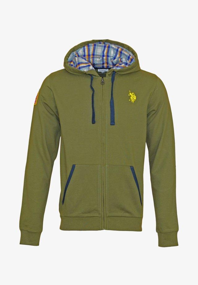 Zip-up hoodie - olive