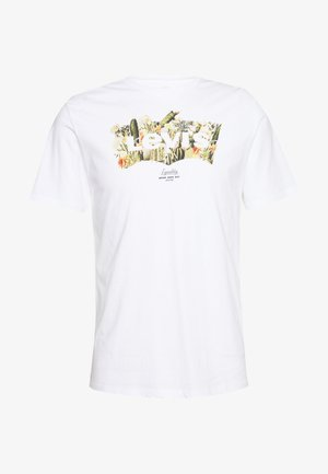 HOUSEMARK GRAPHIC TEE - T-shirt z nadrukiem - cactus fill white