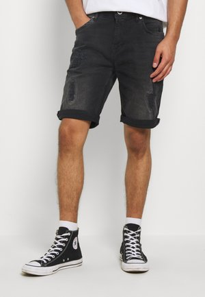 BECKER - Shorts di jeans - black used