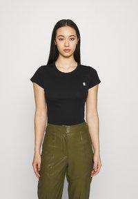G-Star - EYBEN SLIM 2 Pack - T-shirt basic - black/white - 1