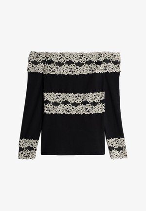 PRETTY FLOWERS - Long sleeved top - nero