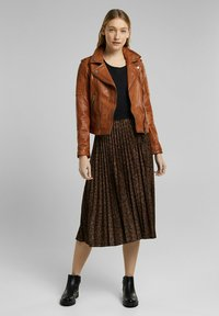 Esprit - Leather jacket - toffee - 3