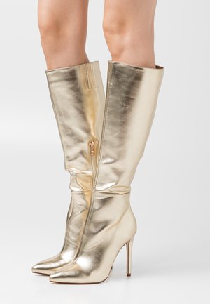 WIDE FIT LAVERNE - High heeled boots - gold