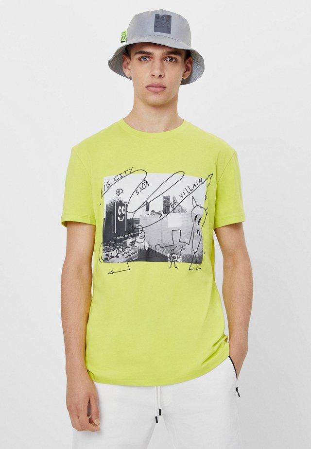 MIT GRAFFITI - T-shirt imprimé - green