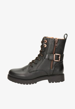 Cowboy/biker ankle boot - zwart