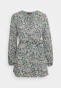 Missguided Petite - SMOCK DRESS DITSY - Kjole - black - 0