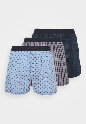 LOOSE 3 PACK - Boxer shorts - blue/red