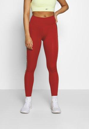 LOGO  - Leggings - red