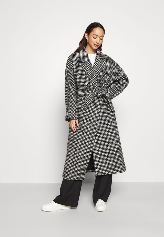CASSIDY COAT - Mantel - black/white