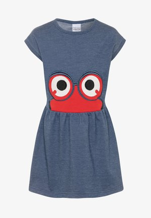 PEEP DRESS - Korte jurk - denim