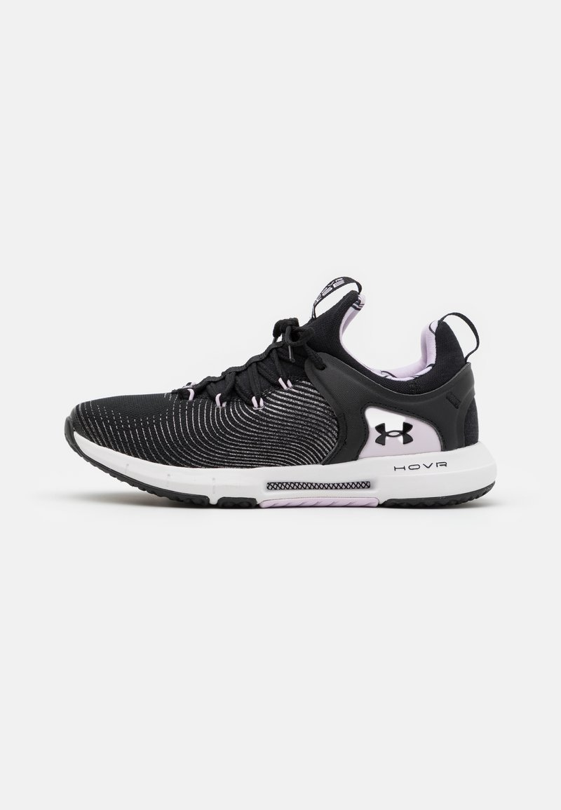 Under Armour - HOVR RISE 2 LUX - Sports shoes - black/white