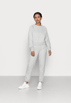 ONLZOEY LIFE SET - Long sleeved top - light grey melange