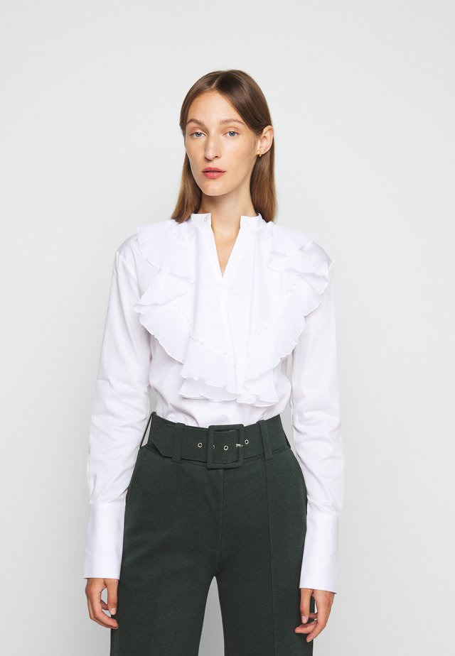 PLEATED BIB  - Camicia - white