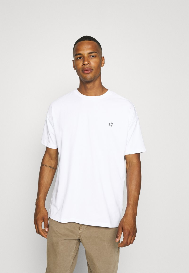 NU-IN - EARTH OVERSIZED  - T-shirt imprimé - white